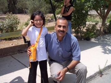 Mohammed Sawalha with a Camper